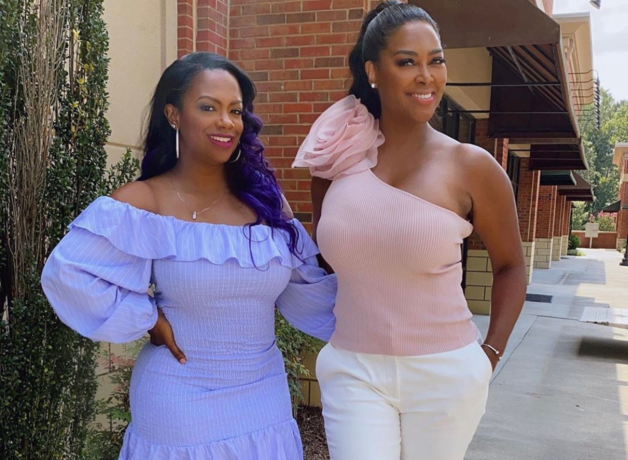 Kandi Burruss And Kenya Moore Have Fierce Bathing Suit Competition In These Photos —  'Real Housewives Of Atlanta' Fans Have A Hard Time Picking The Winner