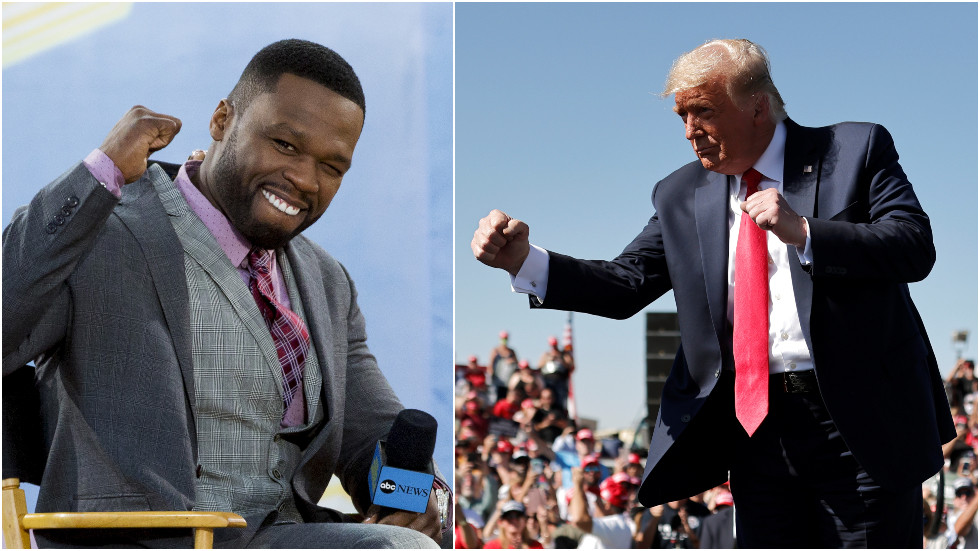 'I don't care Trump doesn't like black people': Rapper 50 Cent says 'Vote Trump' reacting to Biden's tax hike plan