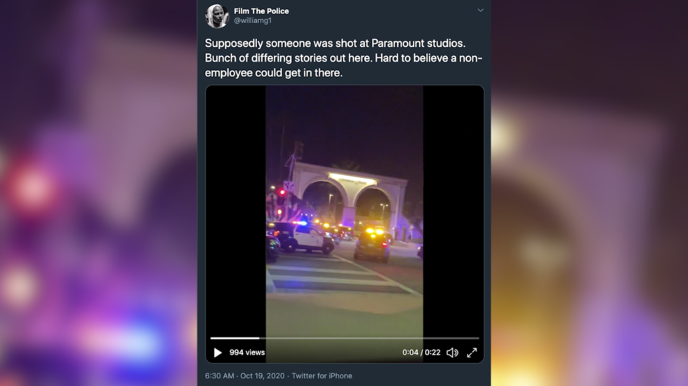Suspect reportedly barricades himself in at Paramount Studios, shots fired amid massive police response (VIDEOS)