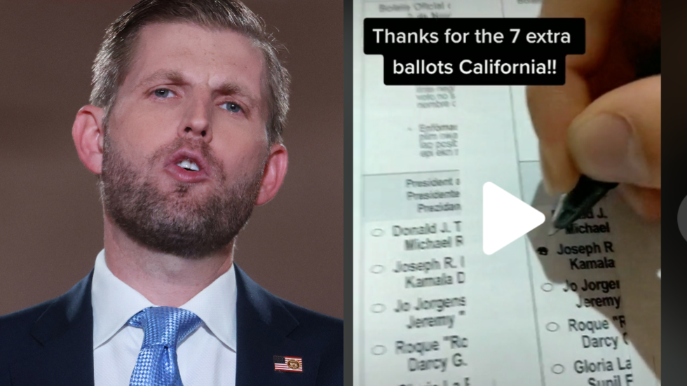Eric Trump calls the cops on California voter fraud scheme, but was he duped by TikTok prankster?