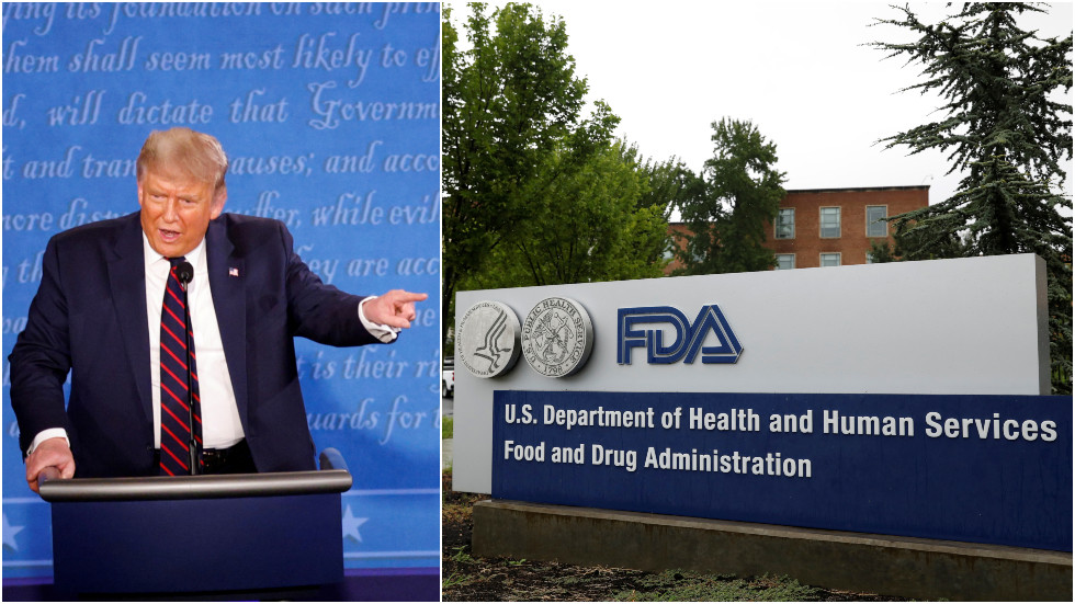 'Another political hit job!': Trump roasts FDA for stricter vaccine guidelines that dash chances for jab before election day