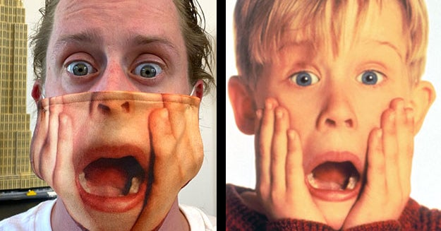 Macaulay Culkin Has The Perfect Face Mask. End Of Story.