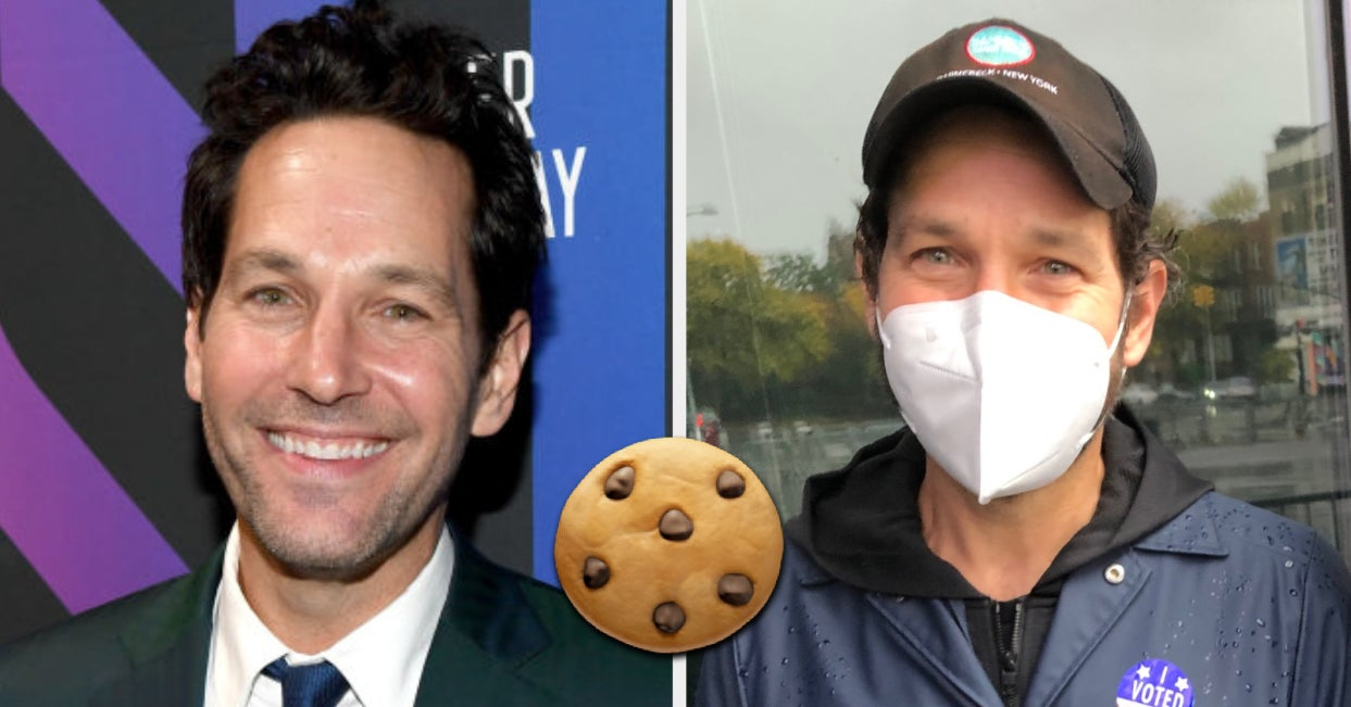 Paul Rudd Stood In The Rain And Handed Out Cookies To Voters Because He's An Actual Angel On Earth