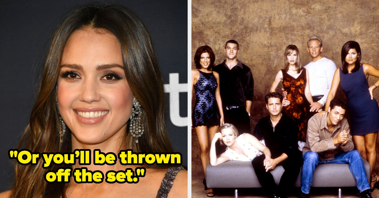 "Jessica Alba Revealed She Was Banned From Making Eye Contact With The Cast Of ""90210"""