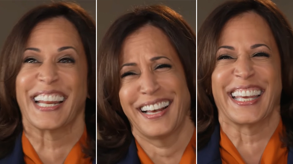 Kamala Harris bursts out laughing when asked if she'll push for 'progressive' policies, igniting rage of the left (VIDEO)