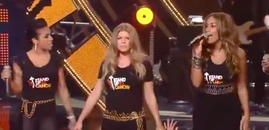 Fergie commanding the stage
