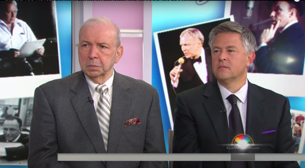 "Frank Sinatra Jr. and author Charles Pignone on the ""Today"" show"