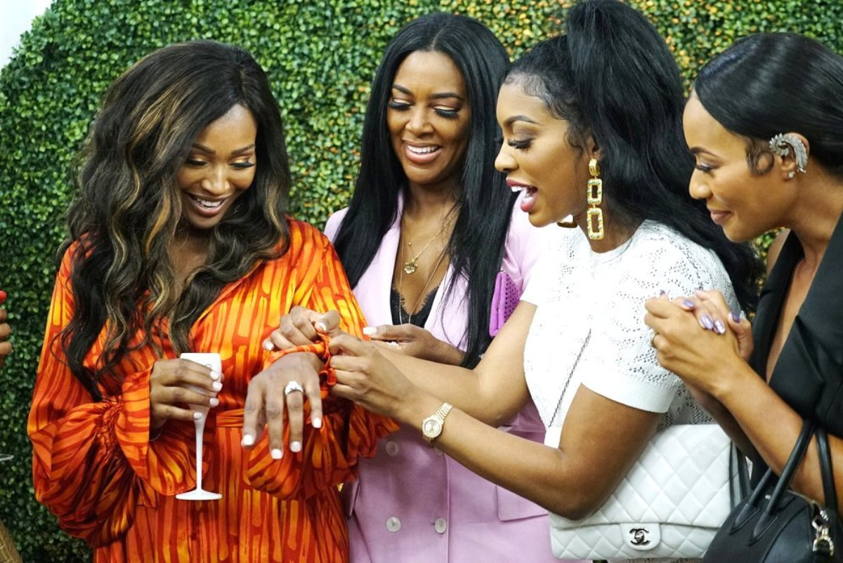 Details Of Cynthia Bailey's Wedding Spill — Porsha Williams And Dennis McKinley Attended Separately, Kenya Moore And Gizelle Bryant Clash, Tanya Sam A No Show