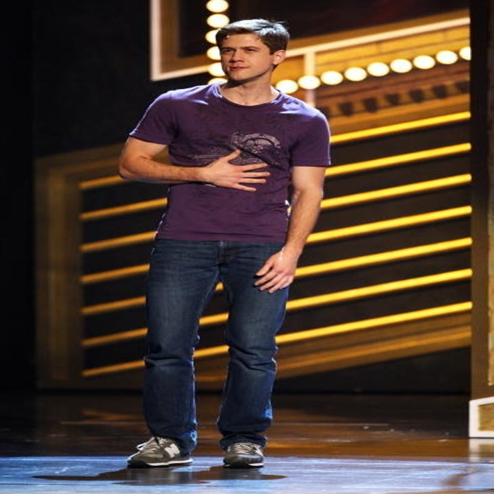 Aaron onstage performing Next to Normal for the Tonys