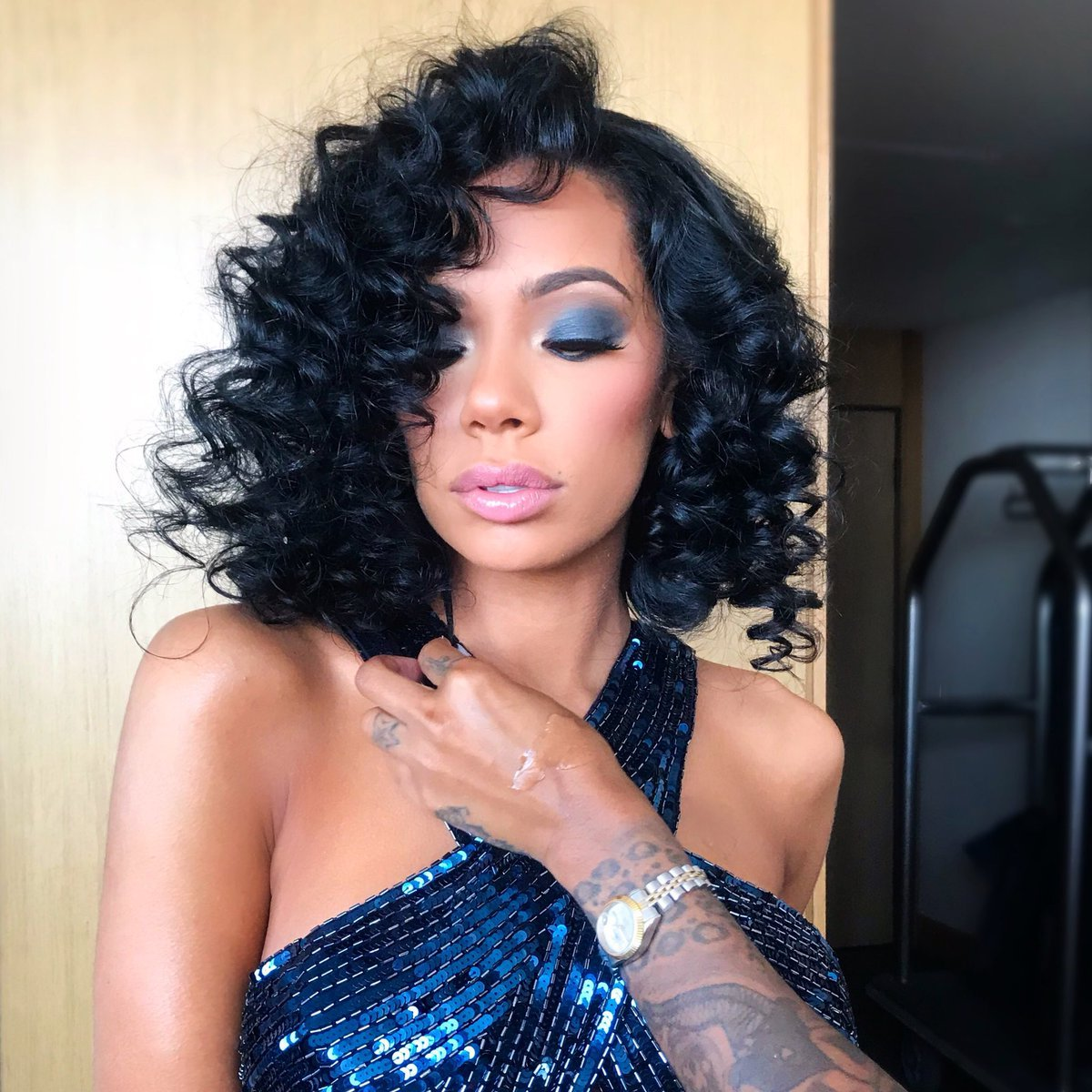 Erica Mena Shows Off A Jaw-Dropping Look In This Fashion Nova Nude Dress