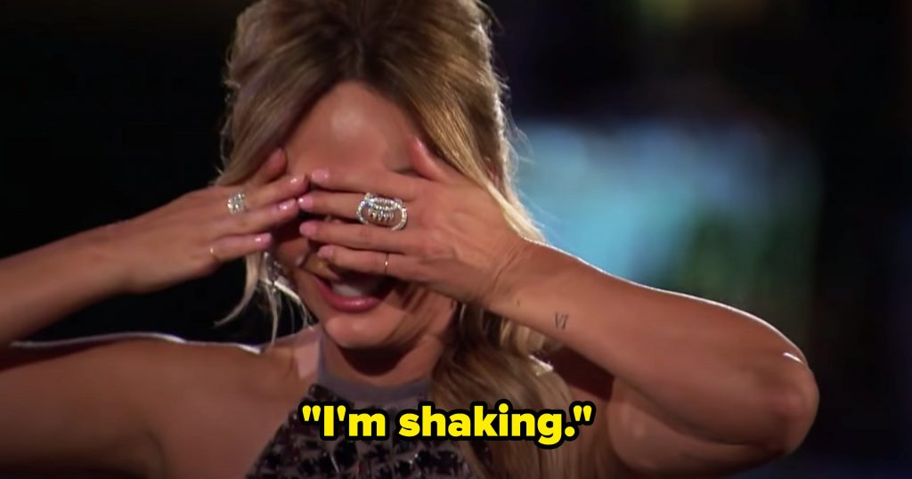 """Clare covers her eyes saying """"I'm shaking'"""