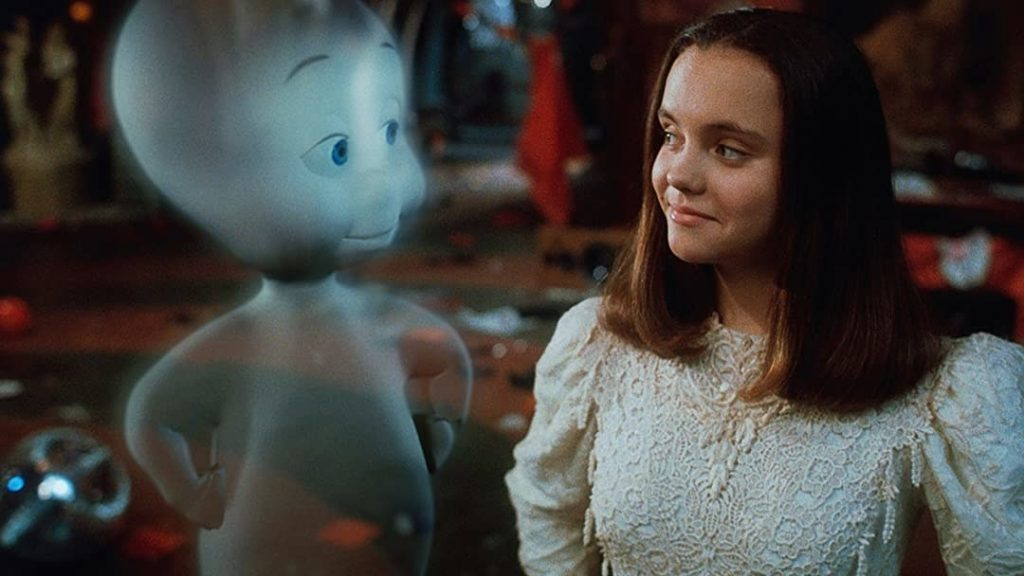 Casper and Christina Ricci as Kat smiling at each other