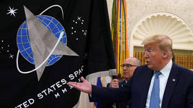 'But will it fly at ludicrous speed?' Trump teases mysterious 'SUPER DUPER MISSILE' at Space Force flag unveiling ceremony