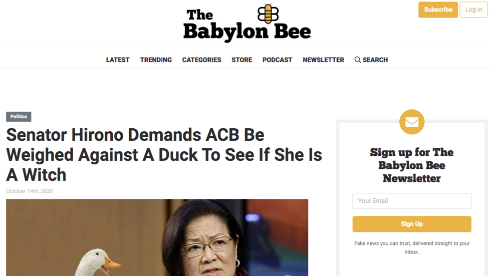 Dying laughing: Facebook demonetizes satirical website Babylon Bee for 'inciting violence' with Monty Python joke