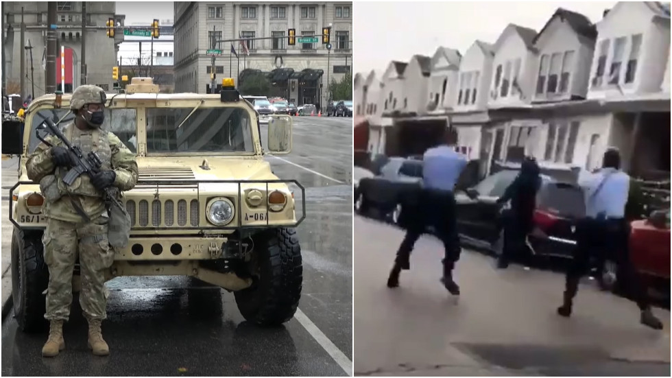 Philadelphia mayor orders curfew but DELAYS release of shooting footage as National Guard troops arrive to help quell unrest