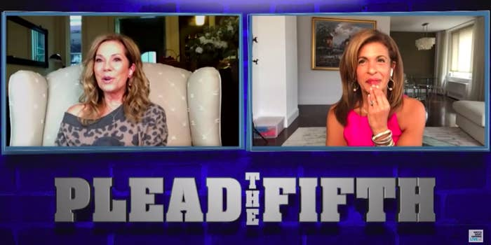 "Kathie Lee Gifford and Hoda Kotb playing ""Plead the Fifth"""