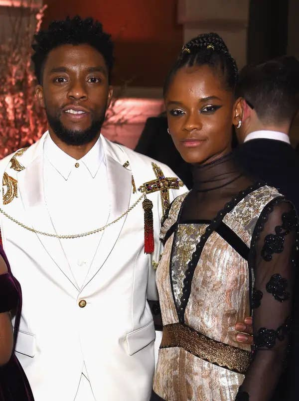 Chadwick Boseman and Letitia Wright.