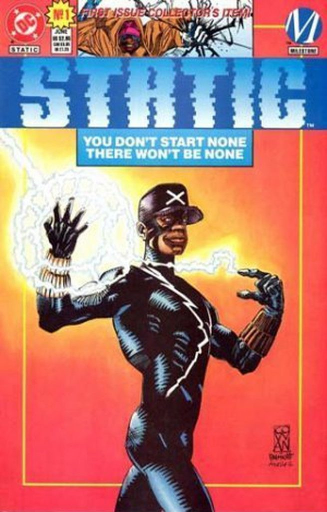 "The comic book cover of ""Static #1"""