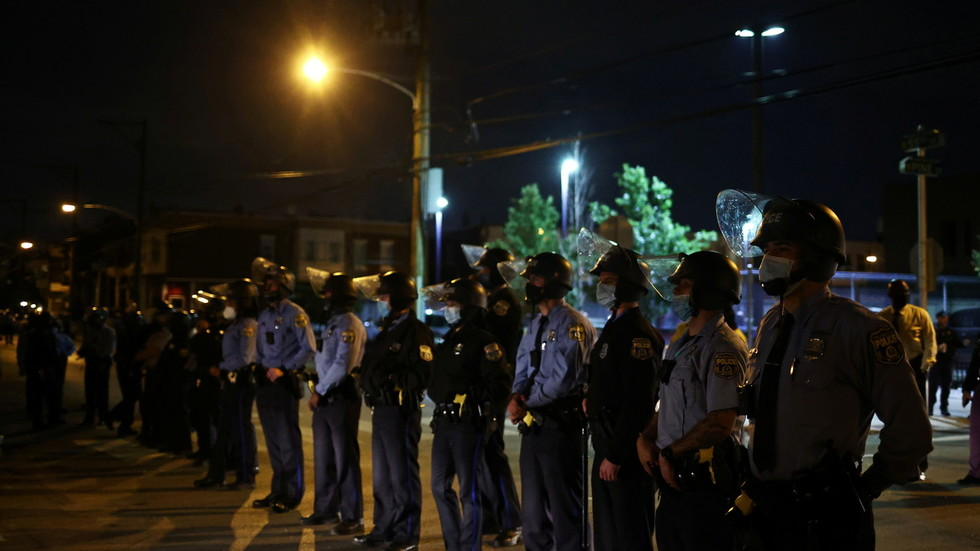 Philadelphia police discover van 'loaded with EXPLOSIVES' as sporadic looting continues for 3rd night despite curfew