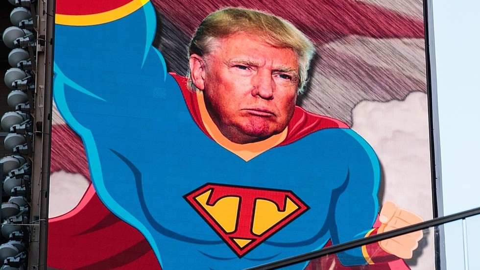 Is it a bird? Is it a plane? It's Twitter melting down over the idea of Trump ripping shirt to reveal Superman costume underneath