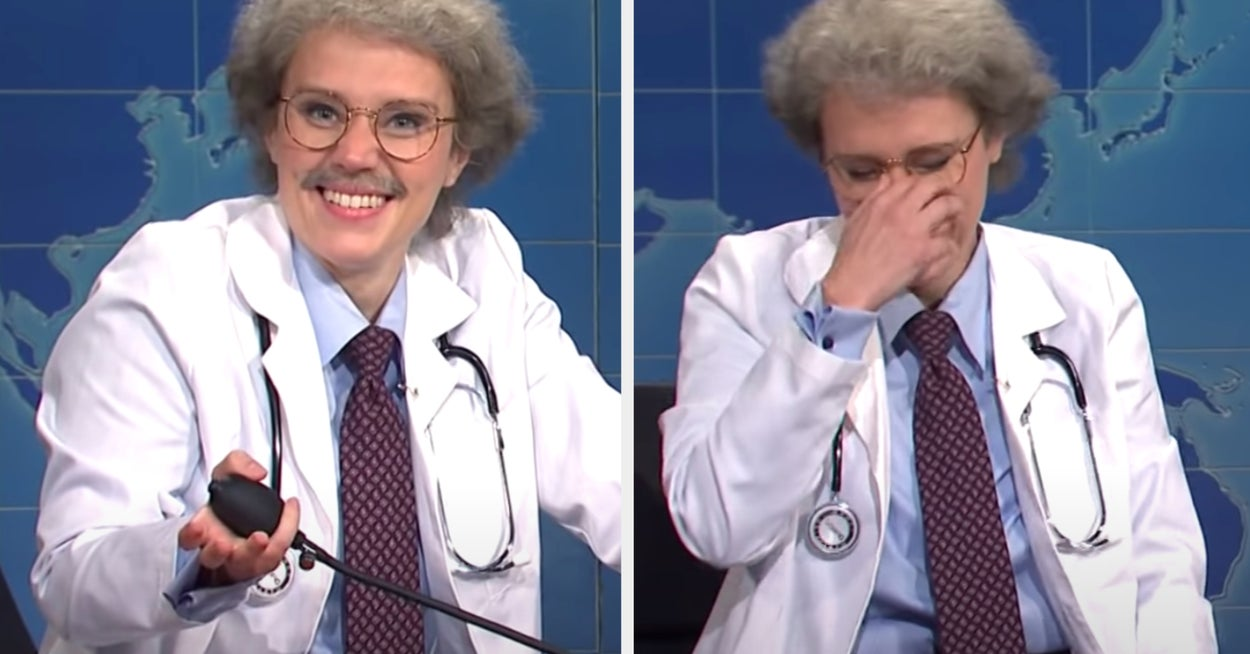 """Kate McKinnon Hilariously Breaking Character On """"SNL"""" Is 2020 In A Nutshell"""