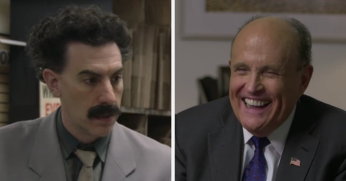 """President Trump's Lawyer Rudy Giuliani Seemingly Stuck His Hand Down His Pants In The New """"Borat"""" Movie, And People Can't Stop Talking About It"""