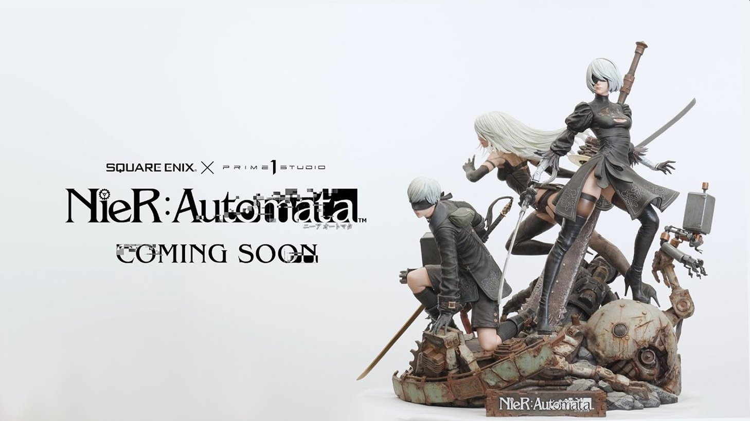 The First Statue In The New Square Enix Masterline Brand Features NieR: Automata's 2B, 9S, and A2