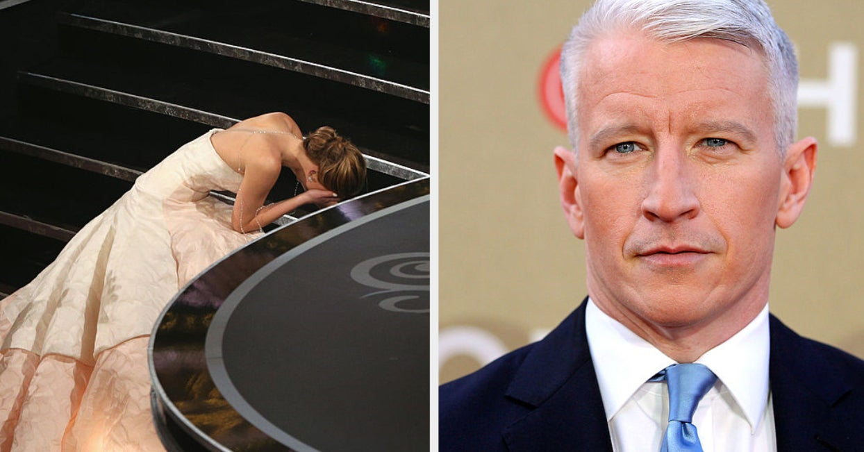 Jennifer Lawrence Confronted Anderson Cooper At A Party After He Said She Faked Her Oscars Fall