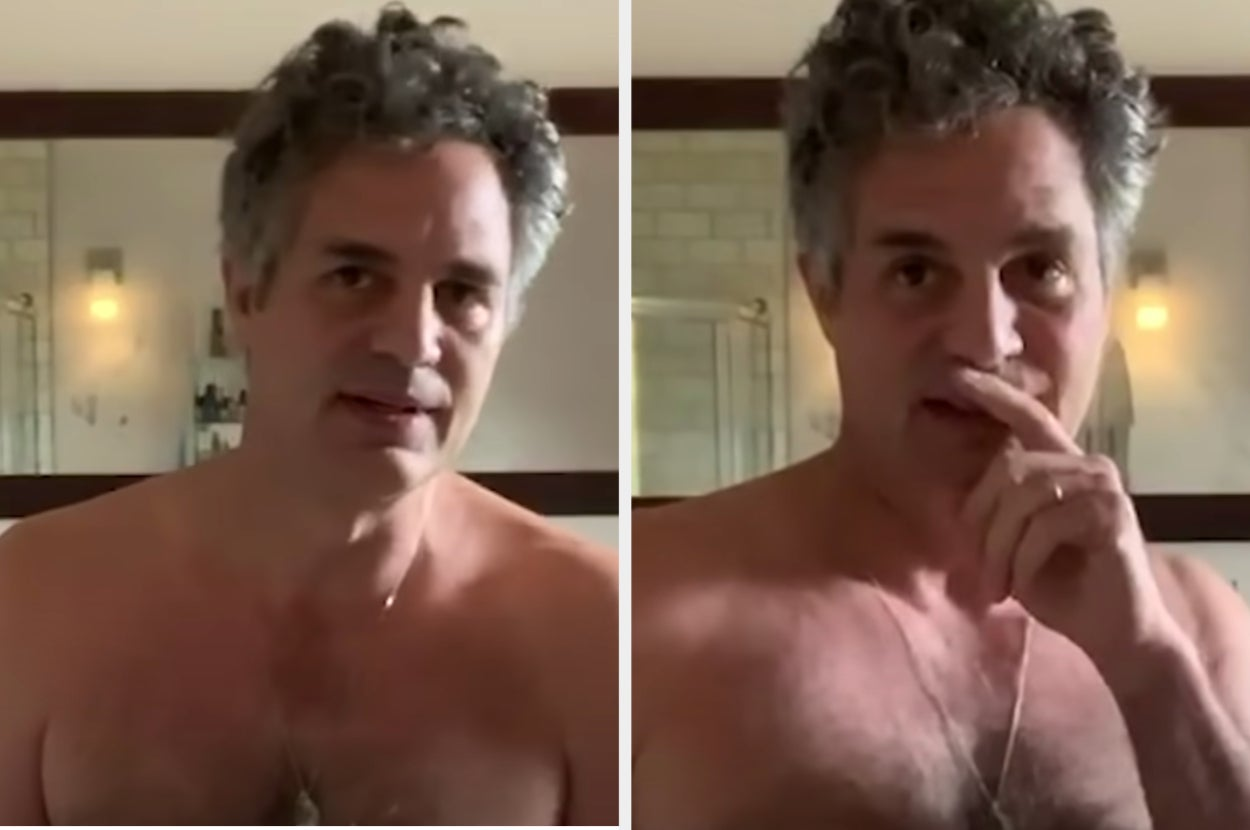 Mark Ruffalo In That Naked Celebs Voting Video Is Peak Daddy