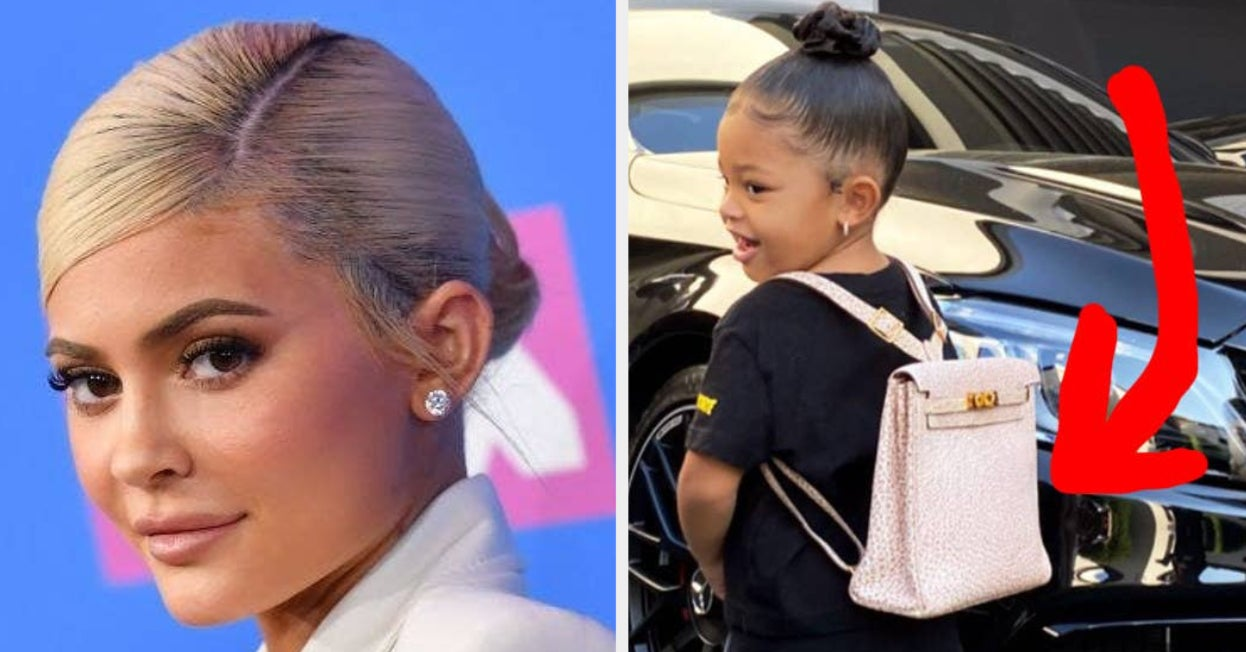 Kylie Jenner Sent Stormi To Her First Day Of School With A $12,000 Hermès Backpack, And People Have Thoughts