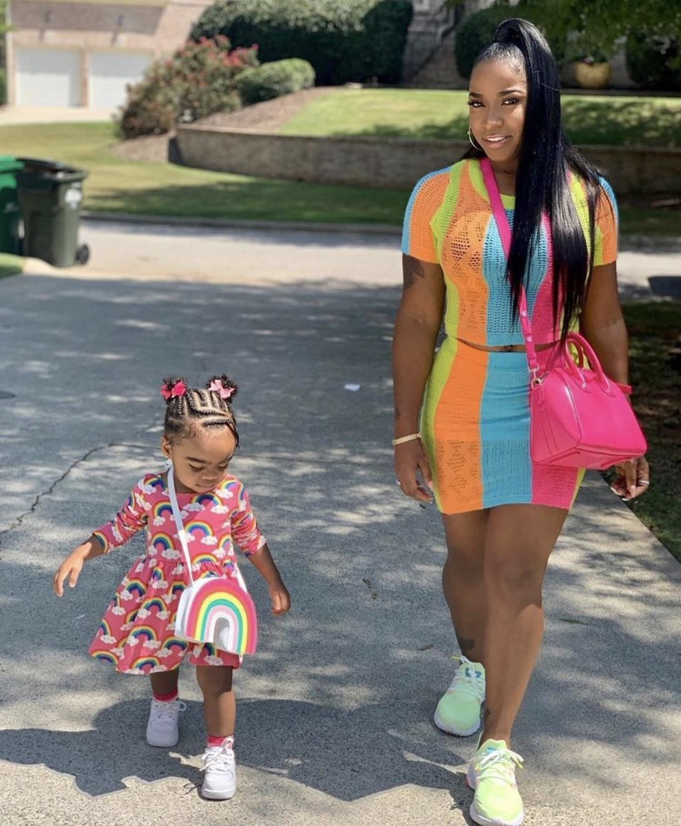 Toya Johnson Is Twinning With Reign Rushing – Check Out Their Playtime Photos!