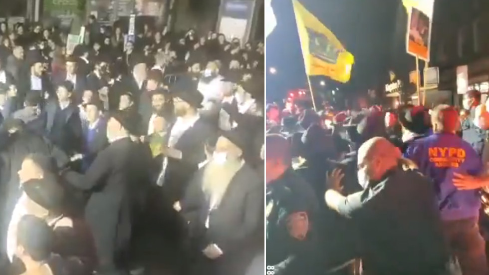 'Suddenly, a Jewish rave!' Orthodox Jews face off with police in NYC's Crown Heights