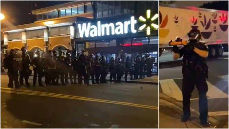 DC police unleash tear gas & stun grenades in clashes with protesters after man dies in botched traffic stop (VIDEO)