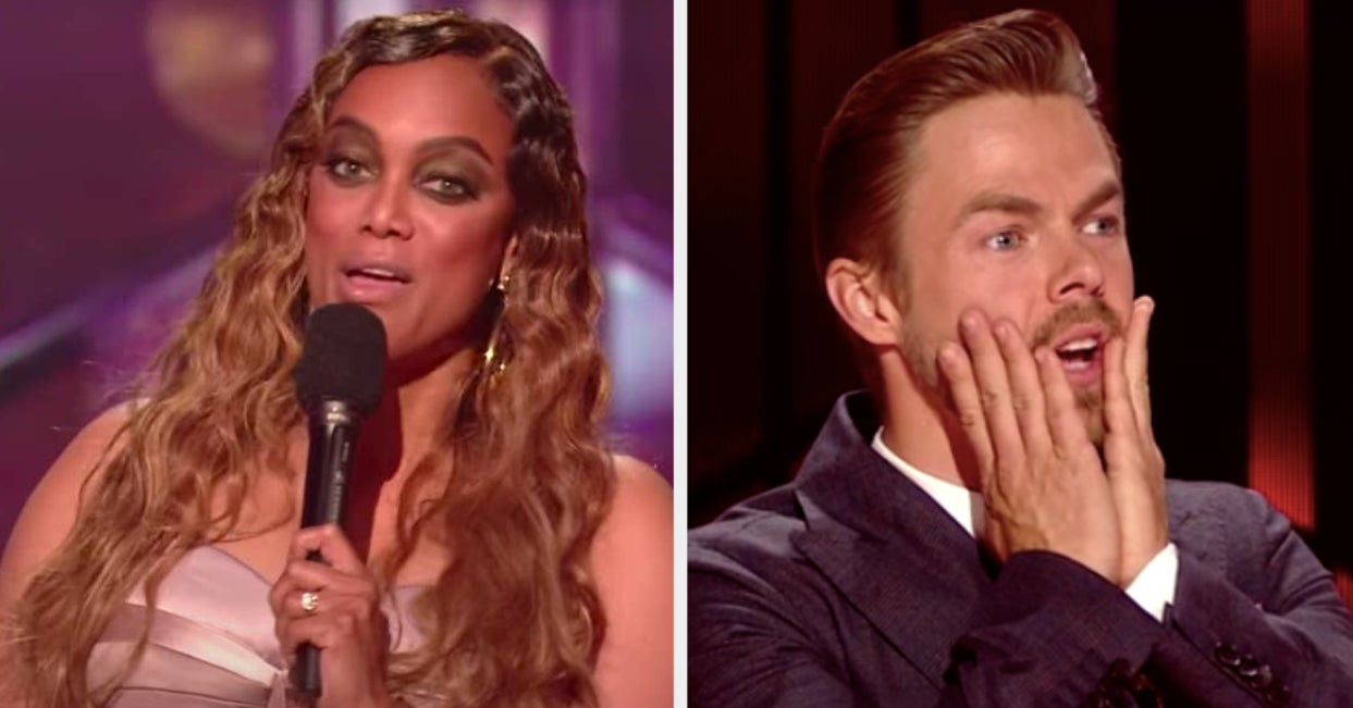 "Tyra Banks Accidentally Read The Wrong Names In The ""DWTS"" Elimination Last Night, And Things Got Awkward Fast"