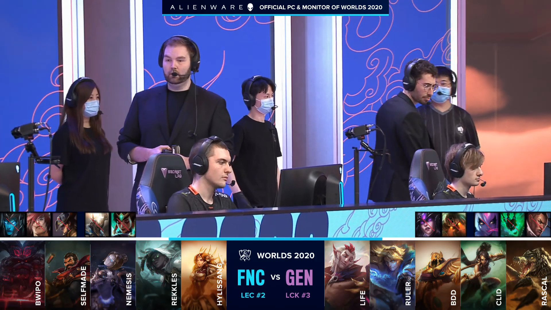 League Of Legends World Championship 2020 Main Group Event Day Four: Fnatic Versus Gen.G