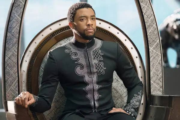 Chadwick Boseman in Black Panther.