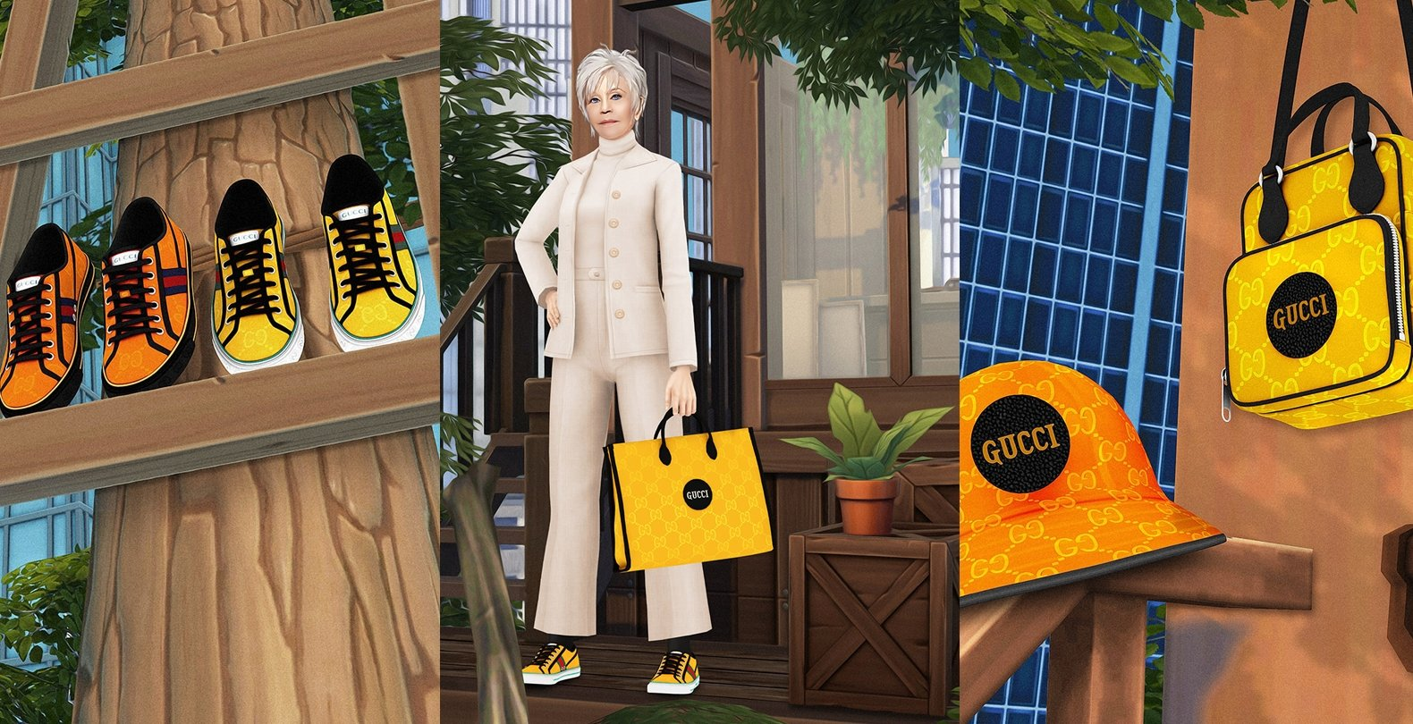 """Gucci Partners With The Sims 4 Custom Content Creators For """"Off the Grid"""" Campaign"""