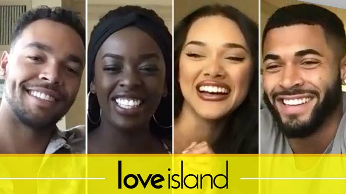 """Love Island"" stars Caleb, Justine, Cely, and Johnny"