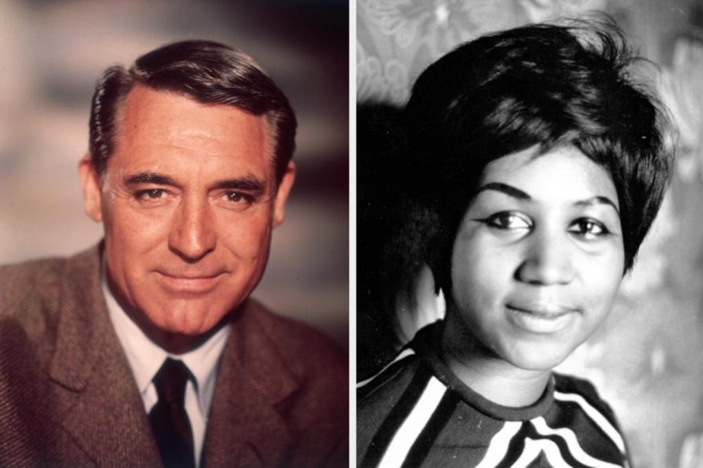 Cary Grant and Aretha Franklin