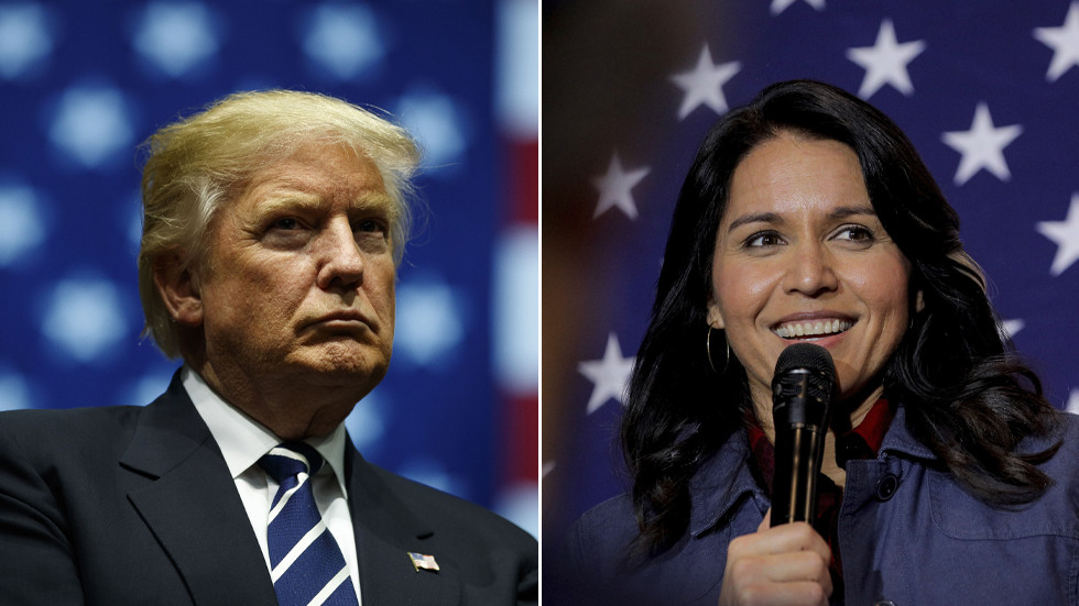 'Just crazy': Trump compares claims Hunter Biden emails are Russian plot to Clinton's branding of Tulsi Gabbard as 'Russian asset'