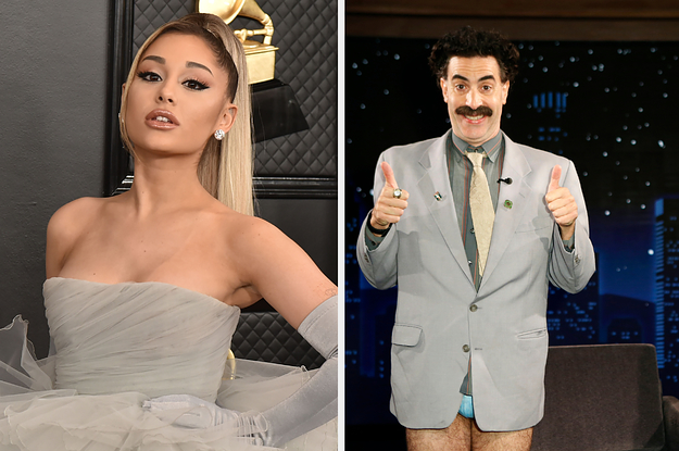 "Ariana Grande Was Up To No Good At A ""Borat 2"" Screening"