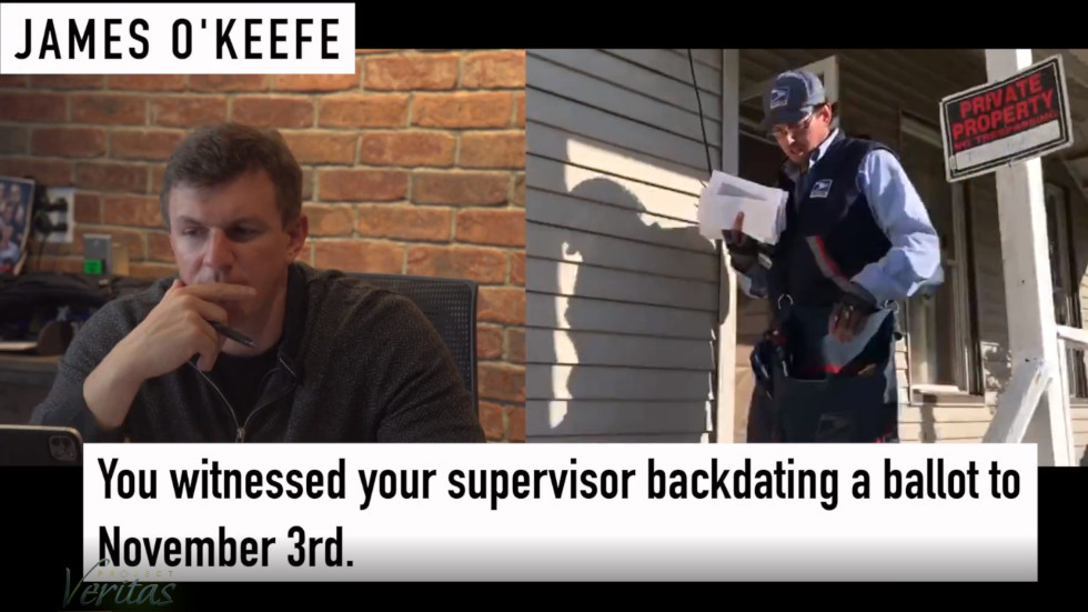 Pennsylvania postal worker goes PUBLIC with allegations in Project Veritas report that postmaster ordered backdating of ballots