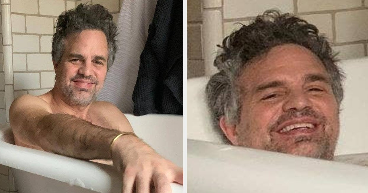 What's This? Oh It's Just Mark Ruffalo Taking A Bubble Bath