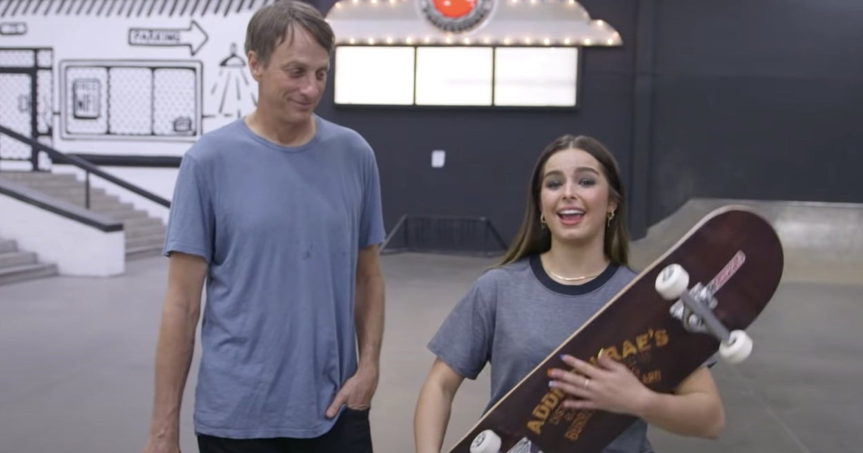 Tony Hawk Gave Addison Rae A Skateboarding Lesson And His Tips Might Help You Too