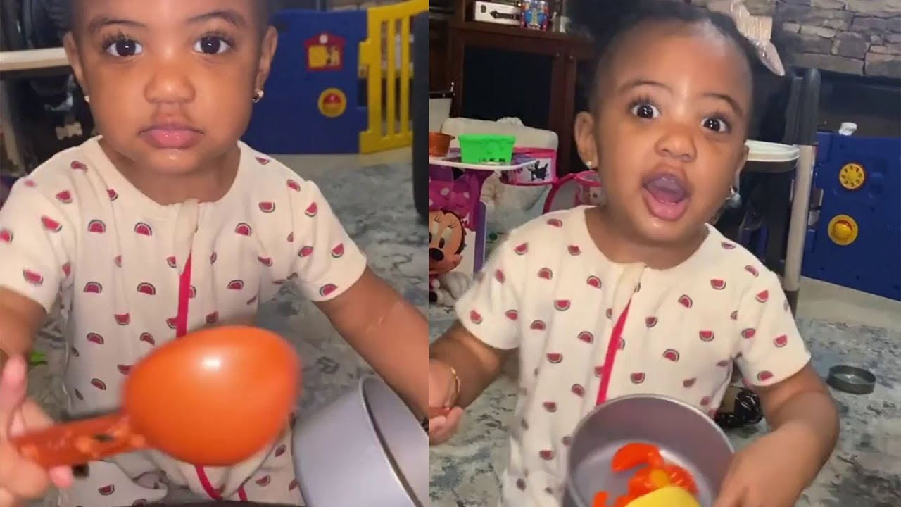 Porsha Williams' Daughter, PJ Gives Daddy A Run For His Money – See Her Photo!