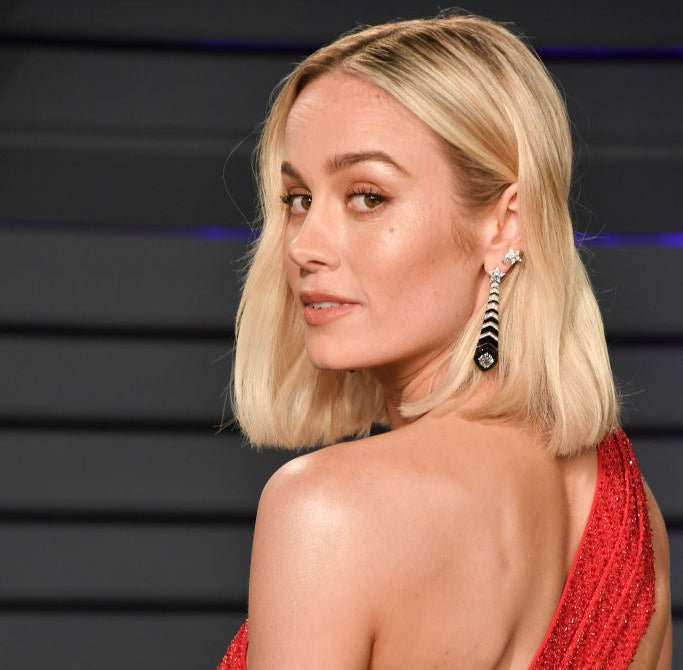 Brie Larson attends the 2019 Vanity Fair Oscar Party