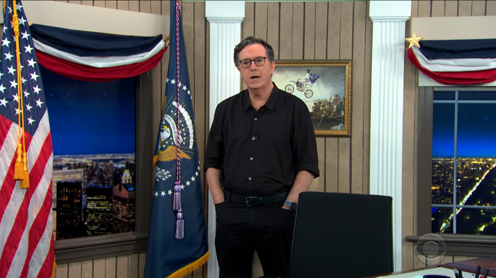 Stephen Colbert lauded after scolding Trump for doubting 'sacred' elections & called out for doing same when peddling Russiagate