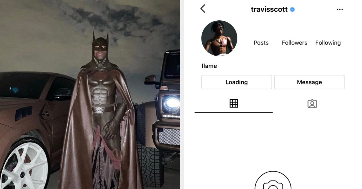 Travis Scott Deleted His Instagram After People Made Racist Comments About His Batman Halloween Costume, And, Yikes