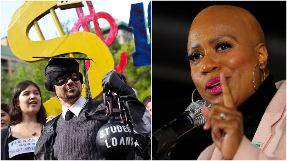 US House Squad member Ayanna Pressley tries to make student debt forgiveness about racial justice, but even Dems aren't buying it