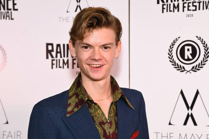 "Thomas Brodie Sangster attends the ""Stardust"" Opening Film & UK Premiere during the 28th Raindance Film Festival at The May Fair Hotel on October 28, 2020 in London, England."